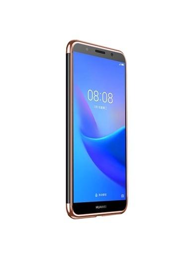 Microsonic Huawei Honor 7S Kılıf Skyfall Transparent Clear Rose Gold Altın